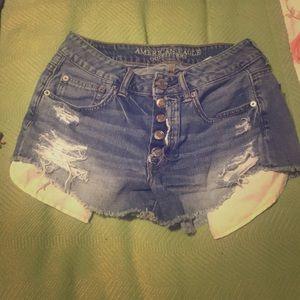 American Eagle Distressed Hi-Rise Festival Jeans